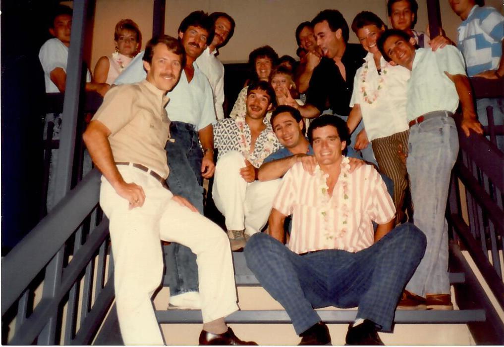 Dinner after testing - 1985